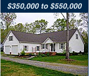 Virginia Waterfront Homes 350,000 to 550,000
